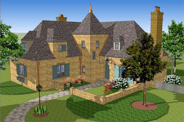 . Southern Living House Plans   French Country House Plans