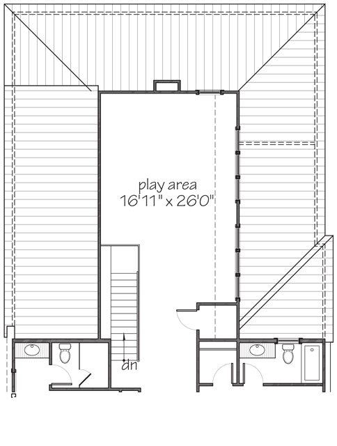 Upper Level Floor Plan Alternate