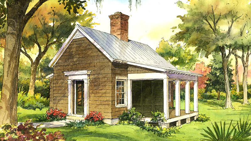 Garden cottage southern living house plans for Backyard cottage floor plans