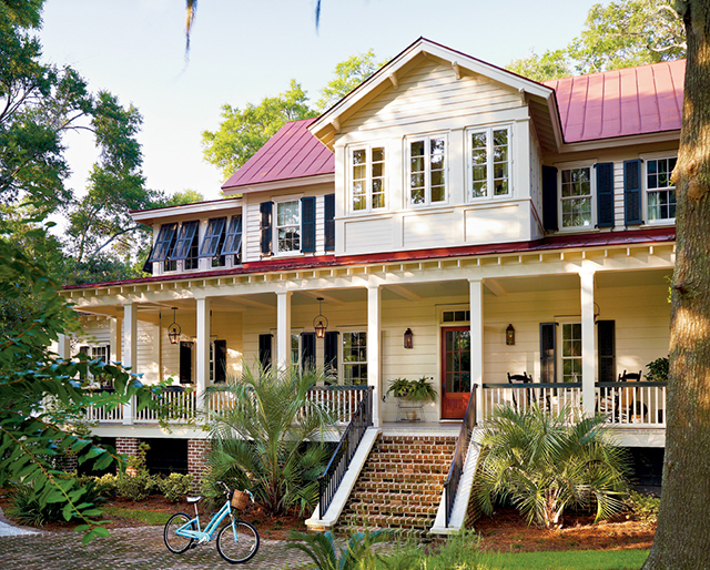 Vintage lowcountry southern living house plans for Southern cottage house plans with photos