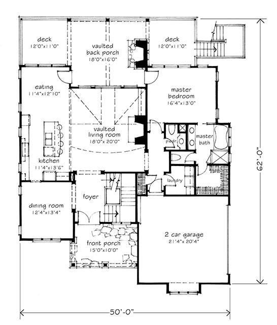 braemer lake - | southern living house plans