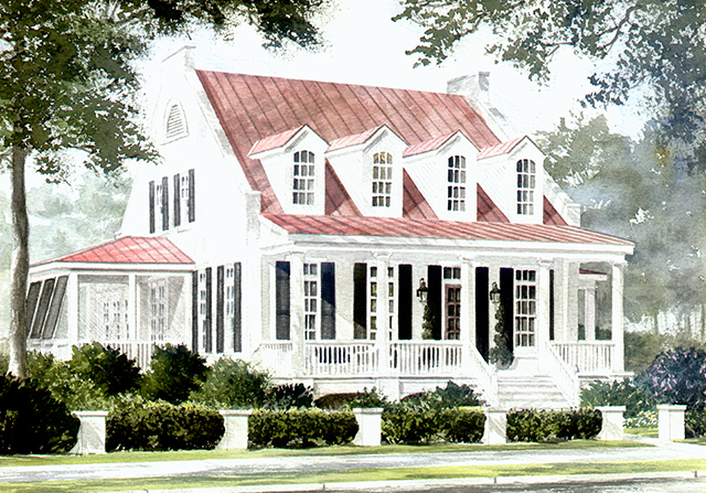 St phillips place watermark coastal homes llc for Southern living cottage floor plans