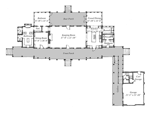Exterior Front Main Level Floor Plan ...