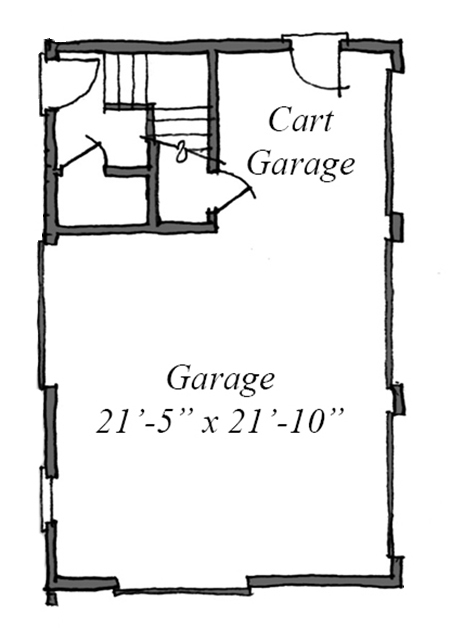 Main Level Floor Plan - Garage
