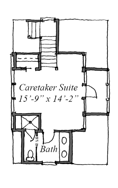 Upper Level Floor Plan - Garage