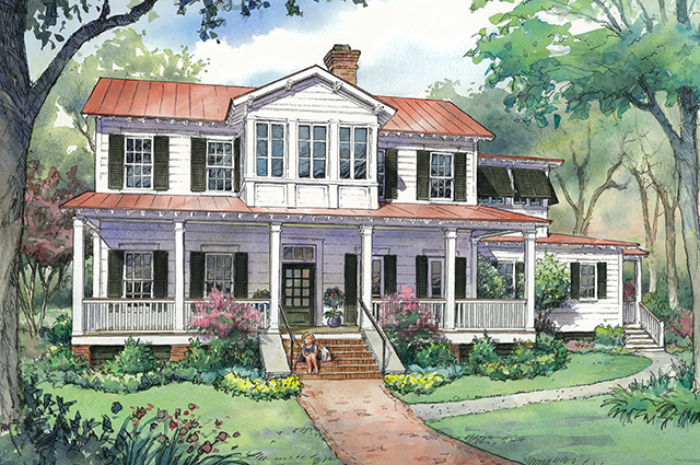 sl 1831 new vintage lowcountry - Vintage Farmhouse Plans