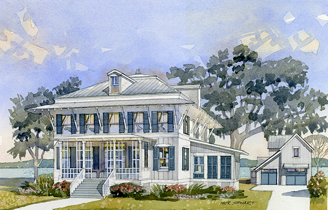 2013 coastal living showhouse southern living house plans for Watercolor house plans