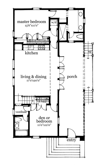 Rosebud cottage southern living house plans for Southern cottage floor plans