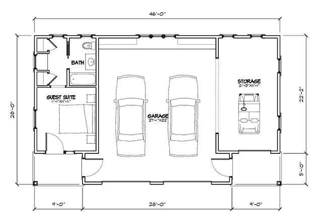 tideland haven garage - | southern living house plans