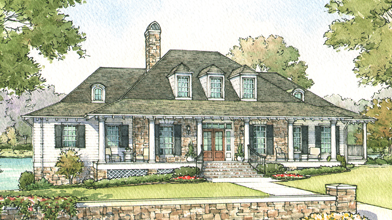 Southern living house plans french colonial house plans for Colonial homes magazine house plans