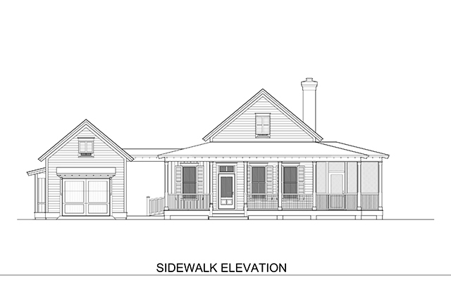 Sidewalk elevation