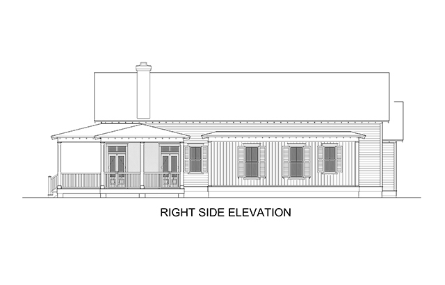 Right Side Elevation Plan : Woodward southern living house plans