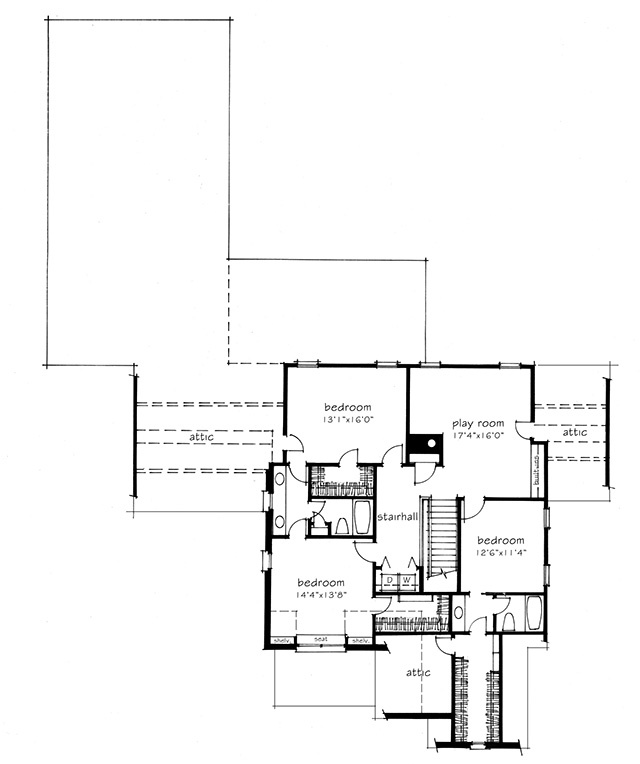front elevation main level floor plan upper level floor plan - 1919 House Plans