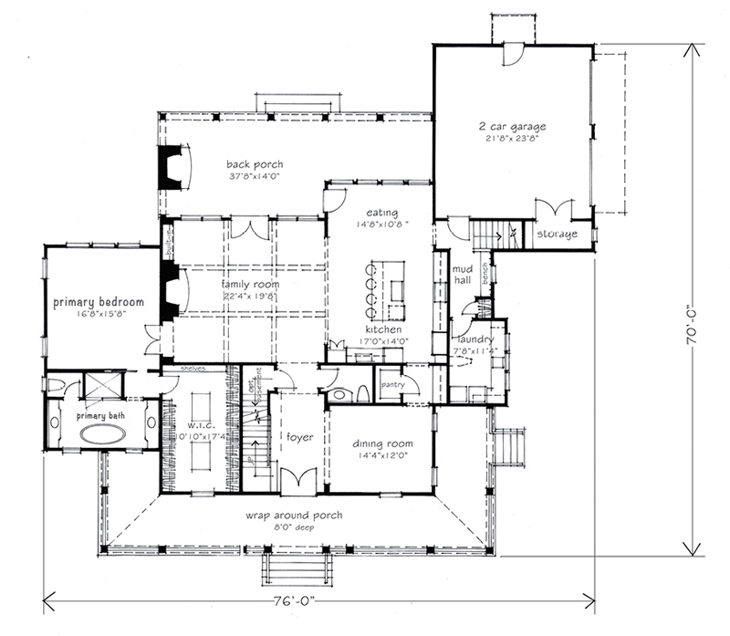 Southern Gothic On Hallsley Street Of Hope Main Level Floor Plan
