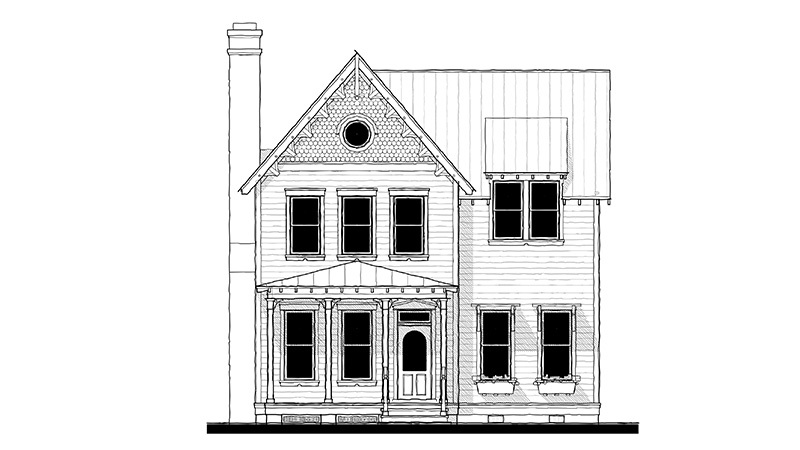 Front Elevation BW Rendering