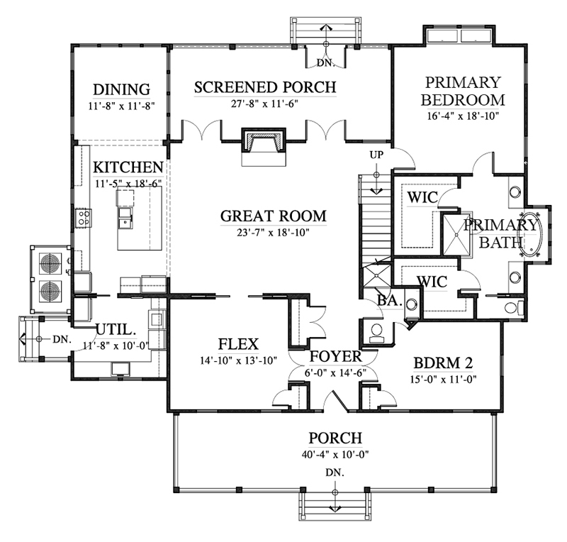 ... Main Level Floor Plan ...