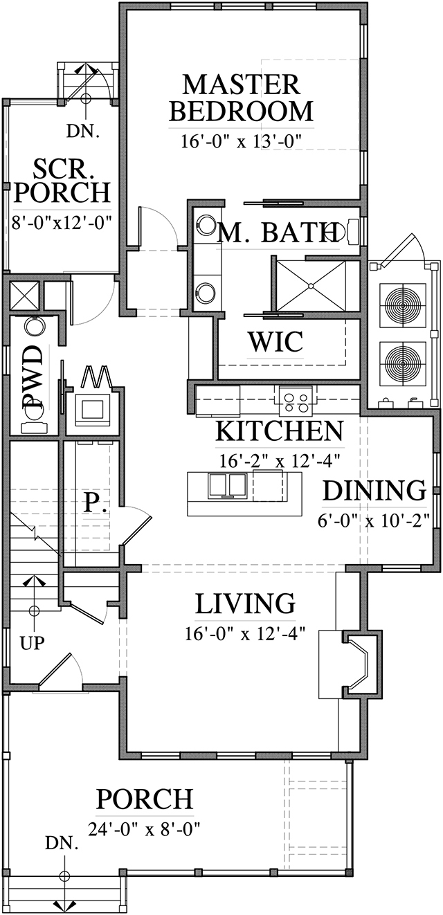 Canton Row - | Southern Living House Plans