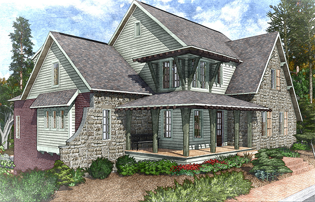 Magnolia southern living house plans for English tudor house plans