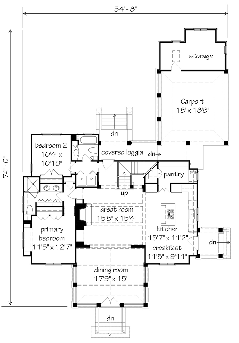 House Plans farmdale cottage - | southern living house plans