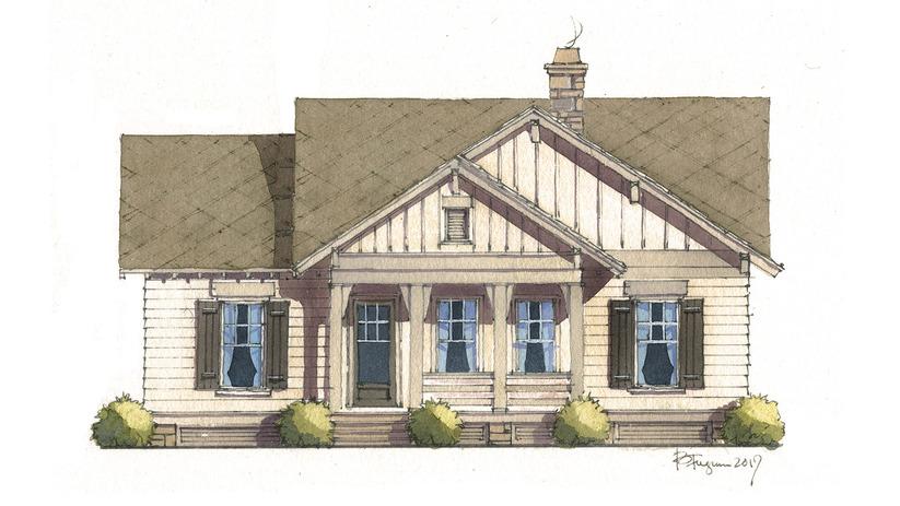 Flint Cottage - | Southern Living House Plans
