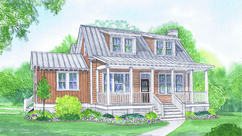 Bayou cottage southern living house plans for Bayou cottage house plan