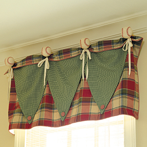 Baseball (or Rosette) Valance