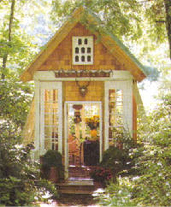 Gentil Imbued With All The Charm Of A Forest Glen, And Filled With Natural Light  From All Four Sides, This Winsome Shed Is As Well Suited For Relaxing With  A Glass ...