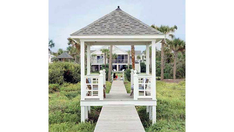 A walk-through gazebo (shown here), a partially enclosed cabana, or a raised playhouse with an attached swingset and slide can be constructed from this flexible project plan. Choose the one that fits your needs best, or build them all -- you get three plans for the price of one!