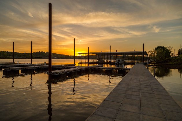 Rockwater marina dusk with docks