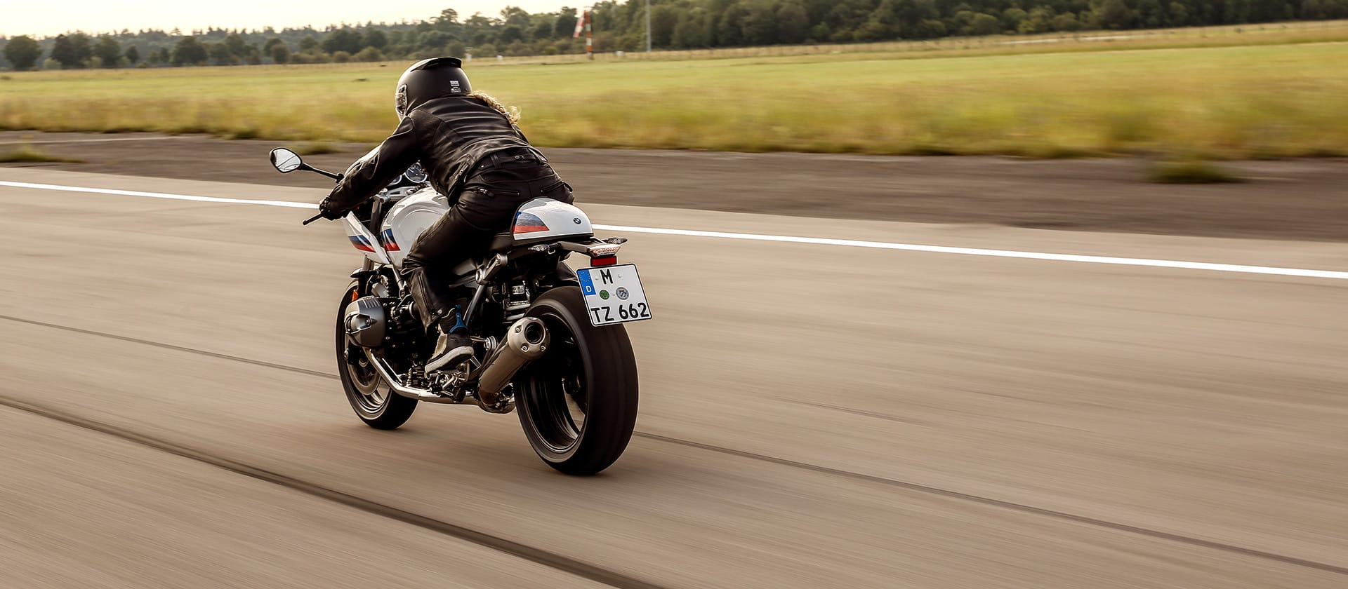 R NineT Racer as seen from behind
