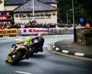 Joey Dunlop at the Quaterbridge