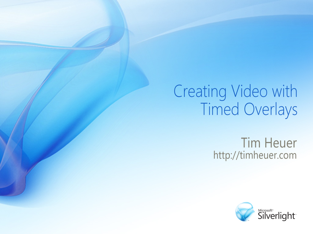 Creating Video with Timed Overlays