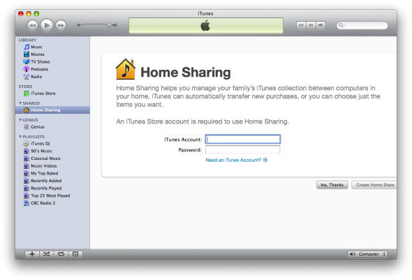 iTunes 9: Sharing is caring.