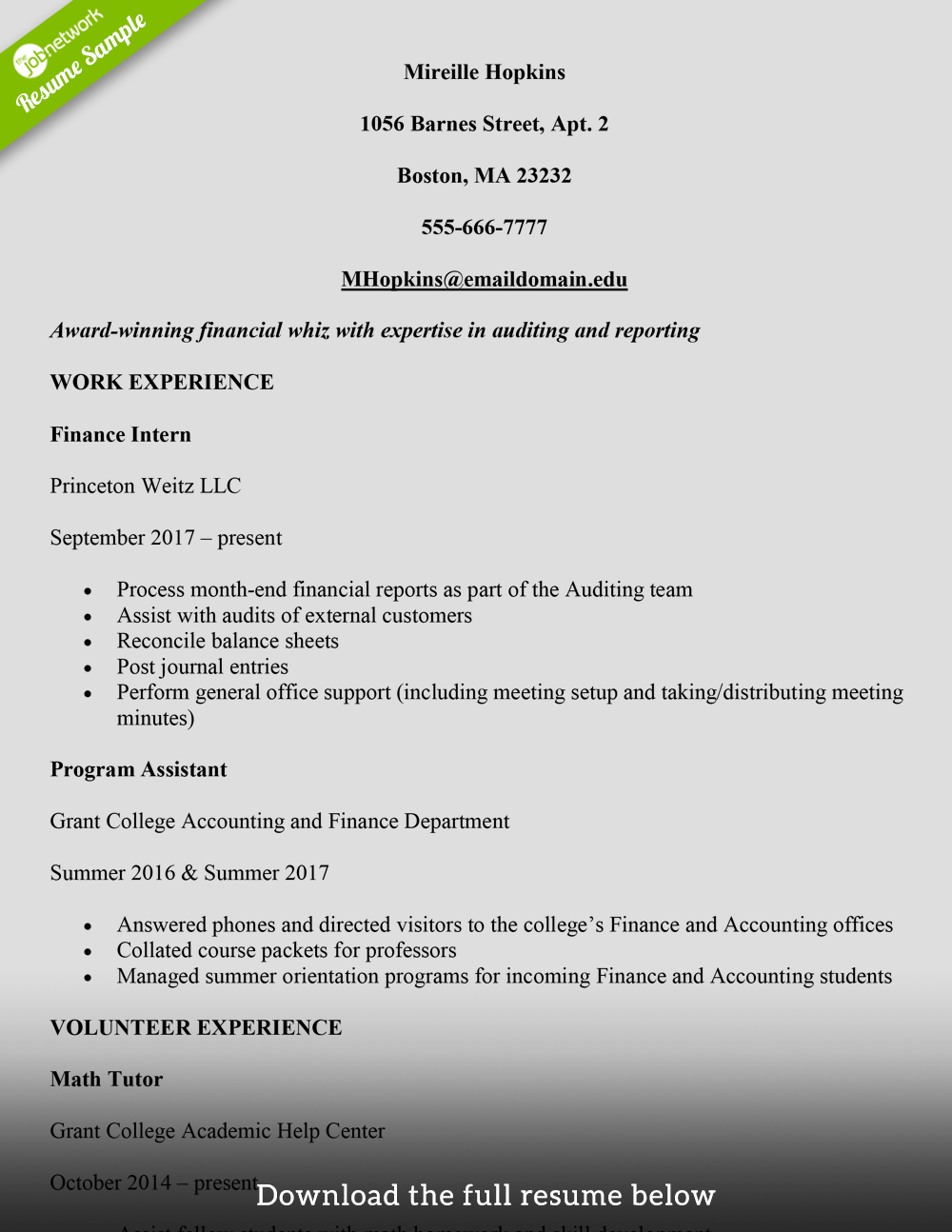 resume examples for jobs with little experience resume