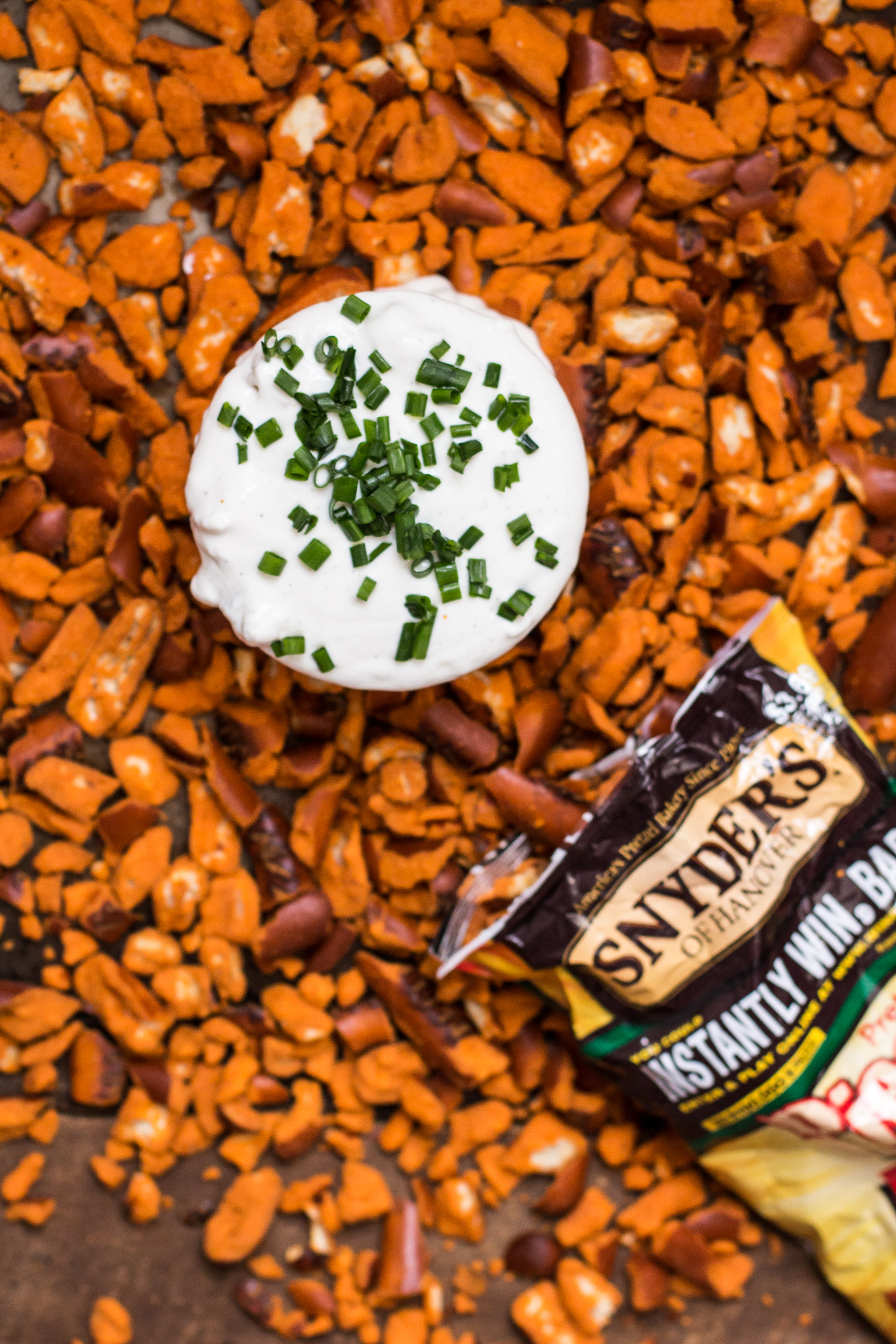 bleu cheese dip, buffalo flavored pretzels, game day dips, snyders of hanover, greek yogurt dips