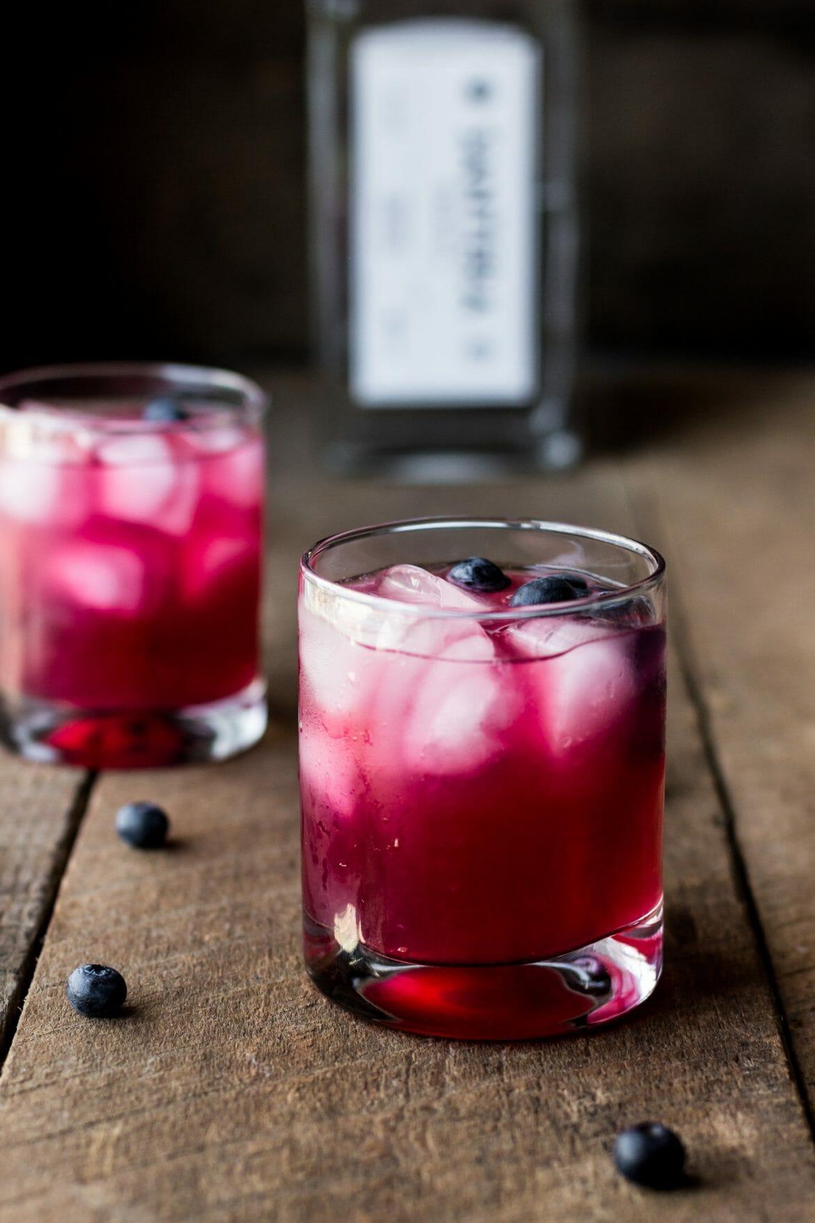 blueberry margaritas, flavored margaritas, santera tequila, cocktail website, cocktail blog