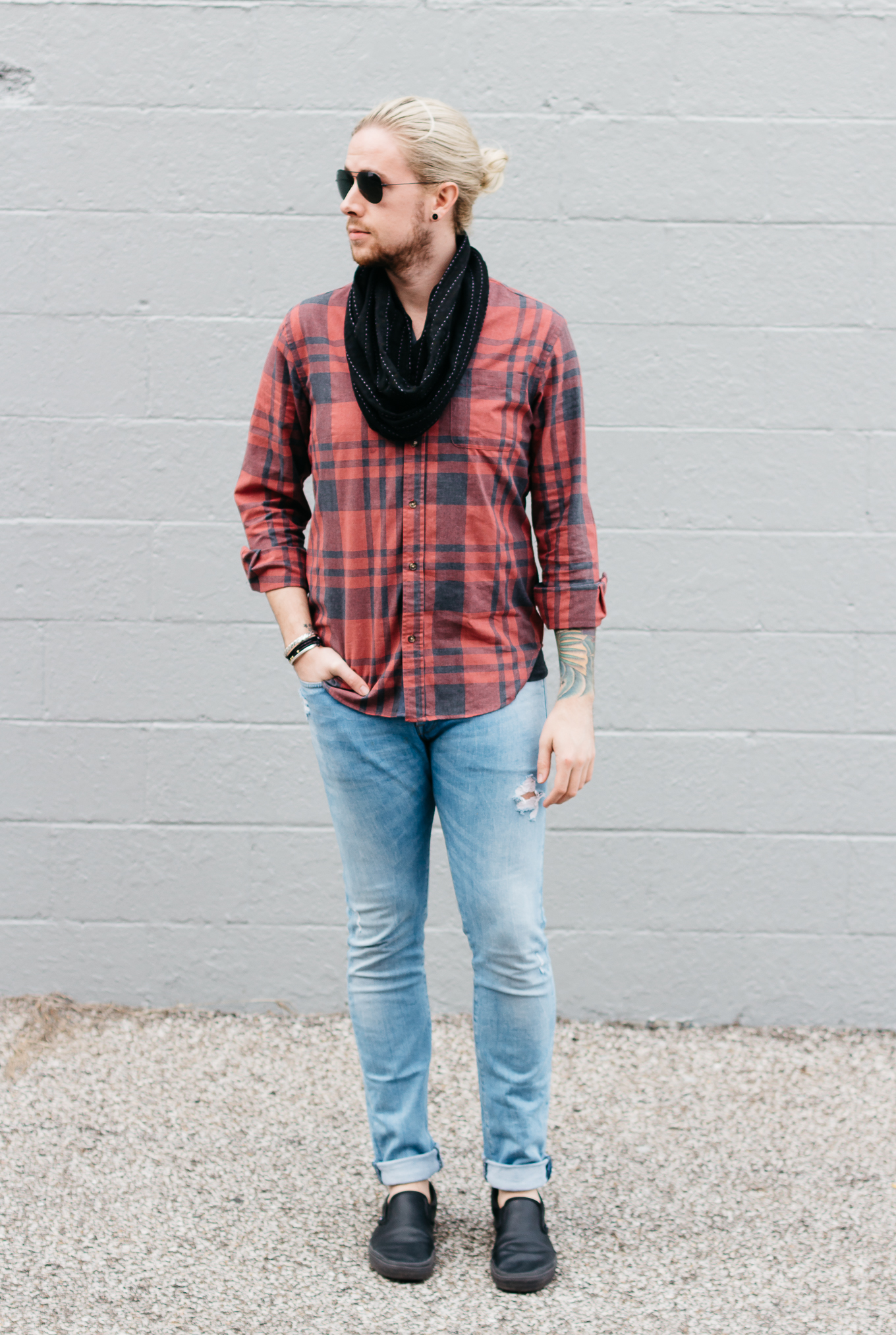 anchal project, mens infinity scarf, cheap mens jeans, five four clothing club, hm