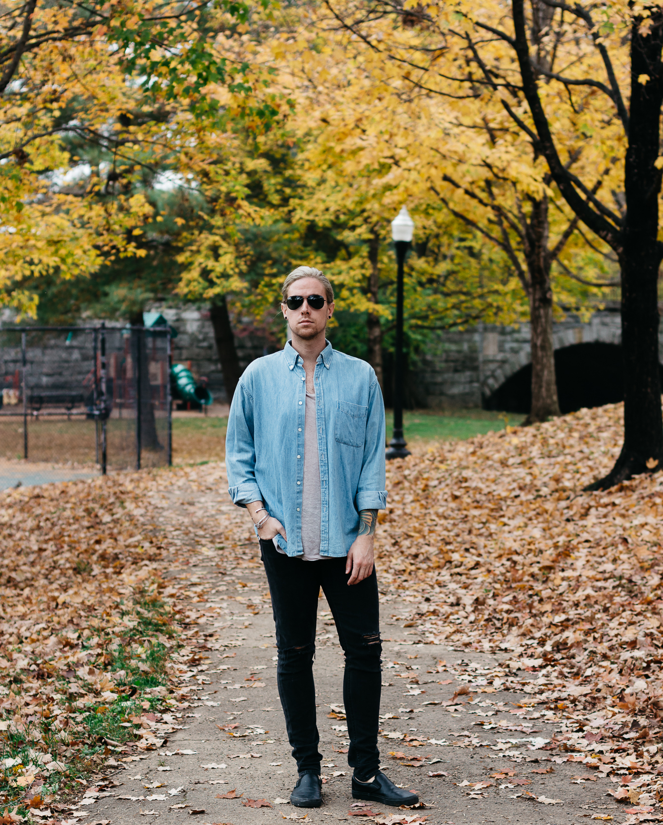 louisville kentucky park, mens fall fashion, vintage j crew denim, vsco film, what to wear in the fall