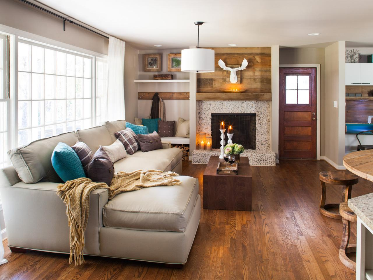 fall, living room, decor idea, hgtv, link round up