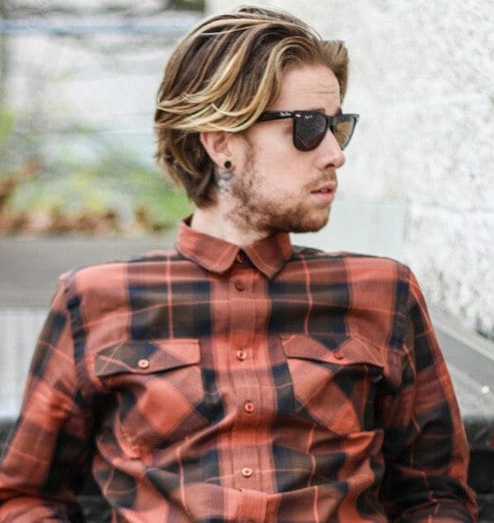 The Kentucky Gent in The Joey WeSC Plaid Shirt, Topman Jeans, Kenneth Cole Detailed Oriented Zipper Boots, and Ray-Ban Wayfarers