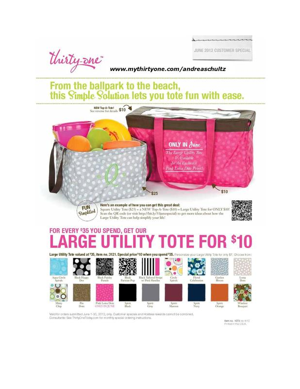 here s the june 2012 thirty one customer special for every $ 35 you