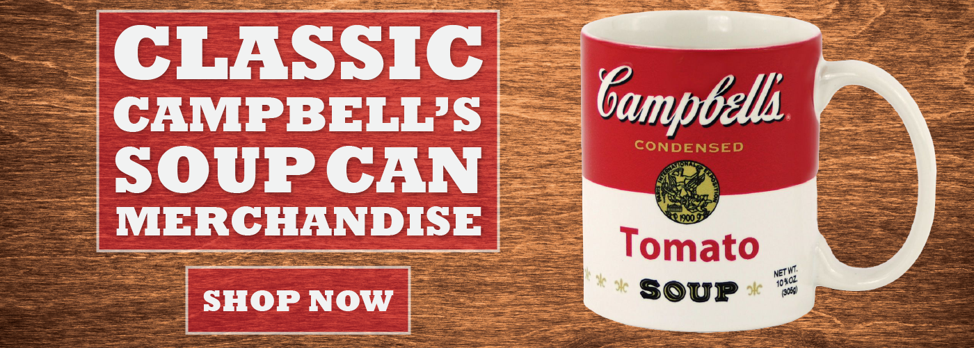 CAMPBELL'S SOUP CAN MERCHANDISE