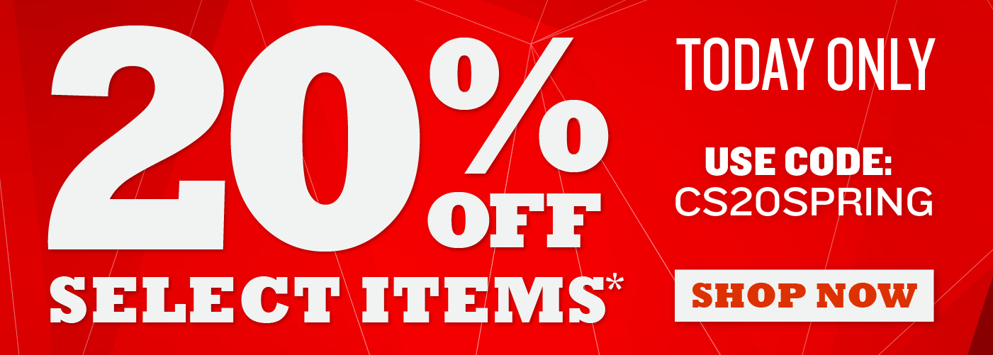 TODAY ONLY - 20% Select Items