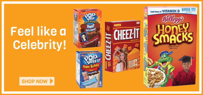 Feel like a Celebrity! Put Your Picture on Kelloggs Products!