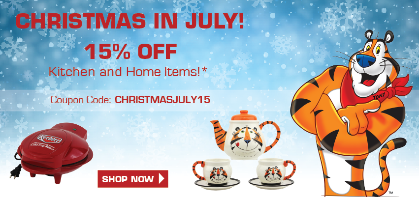Christmas in July! 15% off Kitchen and Home Items!*