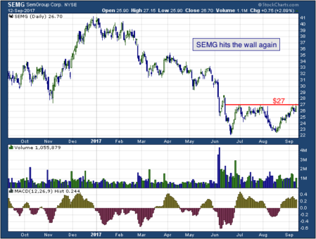 1-year chart of Sem (NYSE: SEMG)