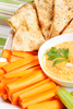 Hummus  carrots  pita