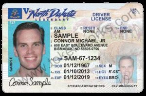 North Dakota Drivers License Front