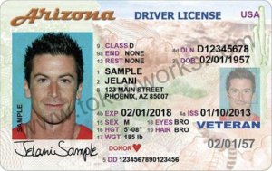 Arizona Drivers License Front