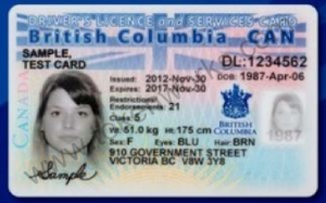 British Columbia Combined License Services Card 2013
